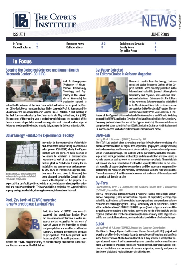 CyI Newsletter - Summer 2009