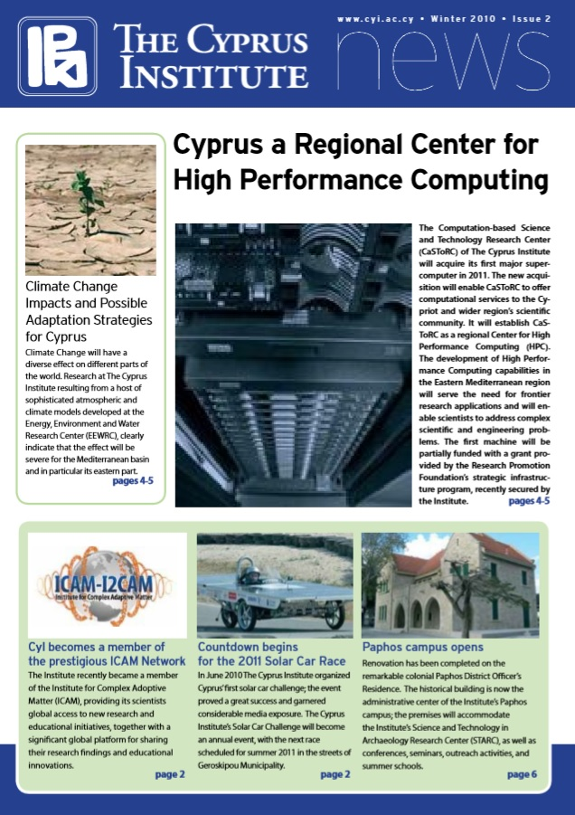 CyI Newsletter - Winter 2010