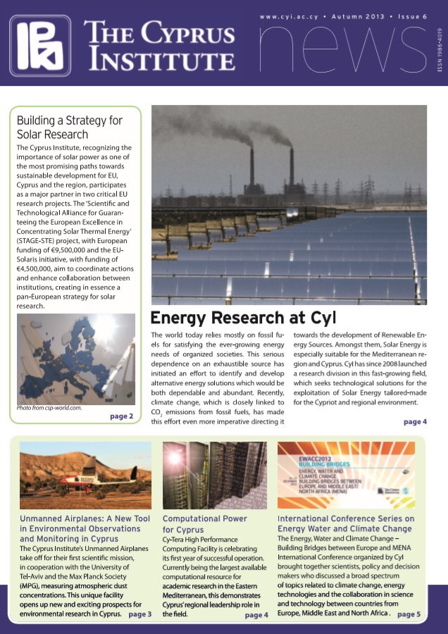 CyI Newsletter - Winter 2013