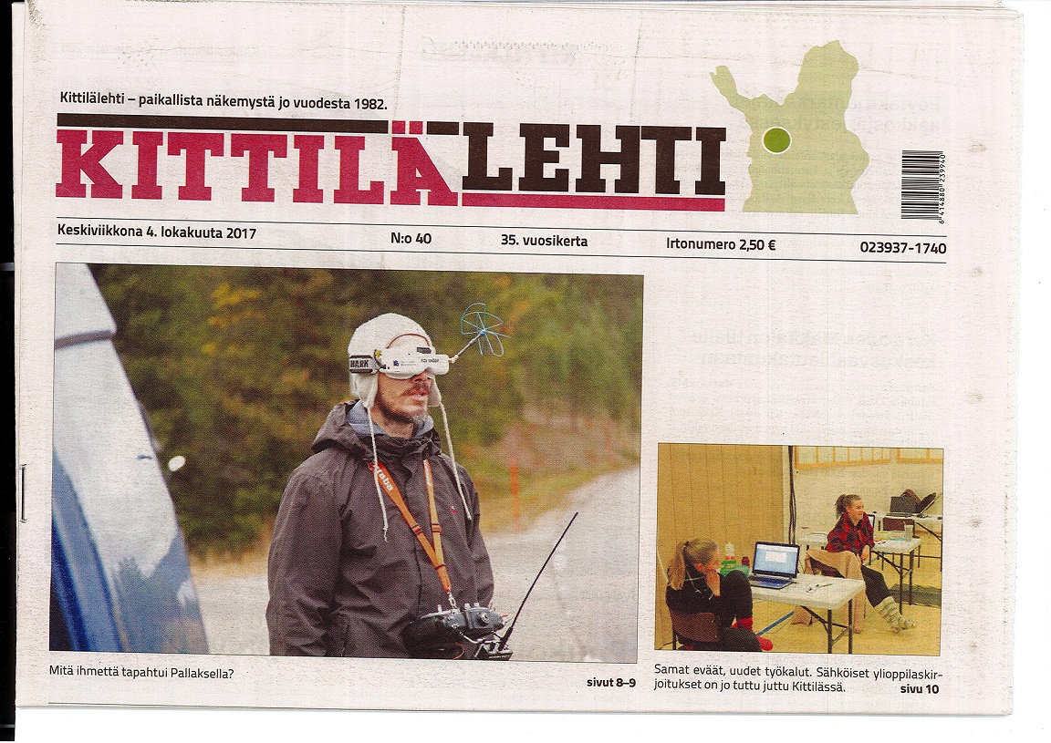 Kittila newspaper cover