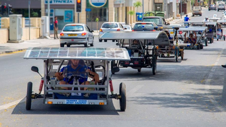 Another day to remember: Solar Car challenge 2015 organized by The Cyprus Institute in cooperation with the Nicosia Municipality in the heart of the capital on Sunday, June 28, 2015.