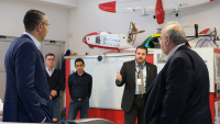 Minister of Defence, Mr. Savvas Angelides and the Permanent Secretary of the Ministry, Mr. George Georghiou were given a guided tour of CyI laboratories
