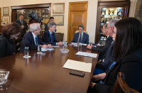 President of the Republic discusses the Cyprus Climate change initiative with Prof. Jeffrey Sachs
